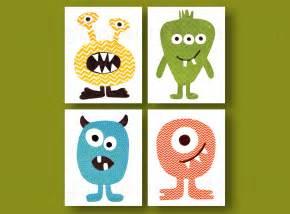 Toddler Boys Bedroom Ideas boy nursery decor monster nursery wall art by galerieanais