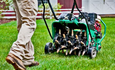 lawn aerator mechanical and electrical magazine for gardeners