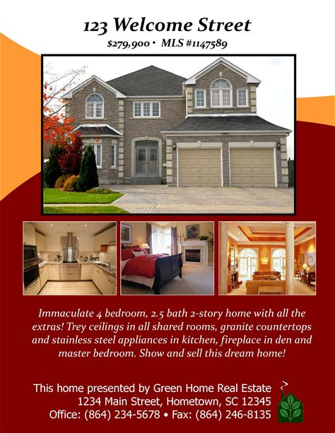 open house designs real estate flyers booklets