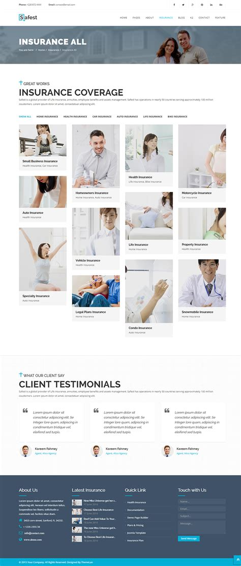 template joomla zip safest insurance agency business joomla template