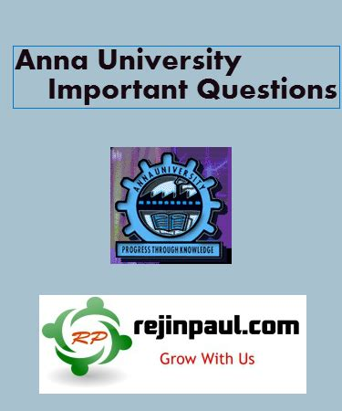 Rejinpaul Important Questions For 4th Sem Mba by Examinations May June Important