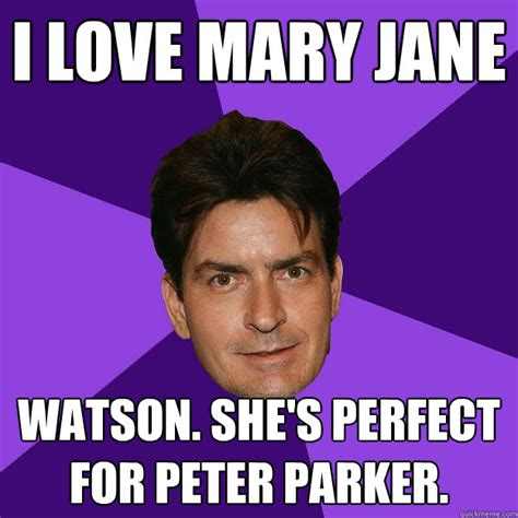 I Love Sex Meme - i love mary jane watson she s perfect for peter parker