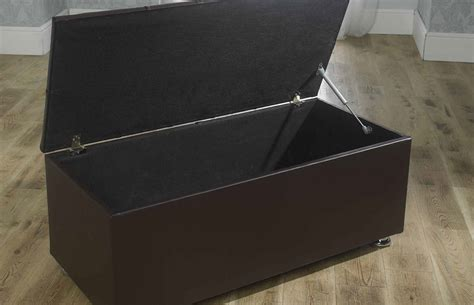 faux leather storage ottoman new ottoman storage blanket box in faux leather