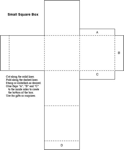 Packaging Templates Small Box Template