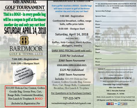 33801 04123 business card template 10k in 1 golf tournament at bardmoor with bogo to