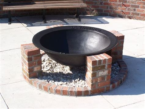 syrup kettle firepit pit ideas bricks