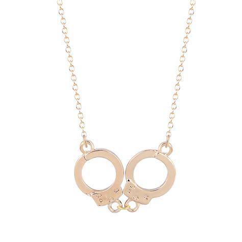 1pcs new fashion jewelry handcuffs choker pendant necklace