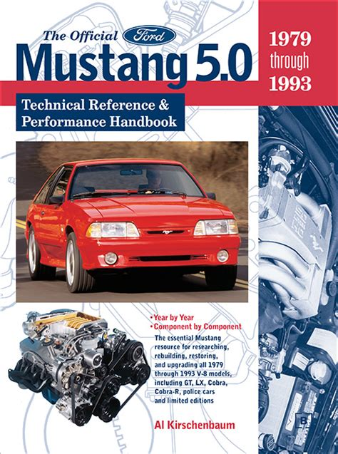 1979 1993 ford mustang automobile repair manual by chilton front cover official ford mustang 5 0 technical reference and performance handbook 1979 1993