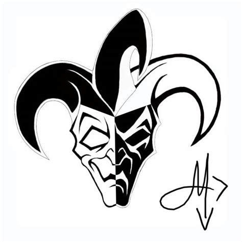 tribal joker tattoo designs jester images designs