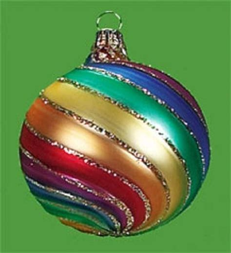 rainbow christmas tree ornament color the holiday season