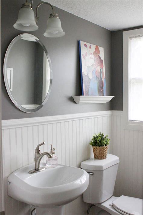 great paint ideas  wainscoting   bathroom