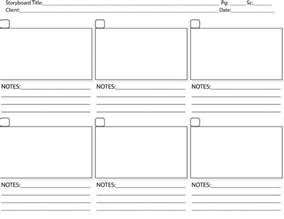 Interactive Storyboard Template by The Process Of Storyboarding Abbott Media Productions