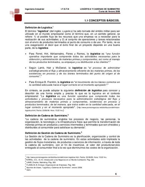 logistica y cadena de suministros - Cad Cadena De Suministro