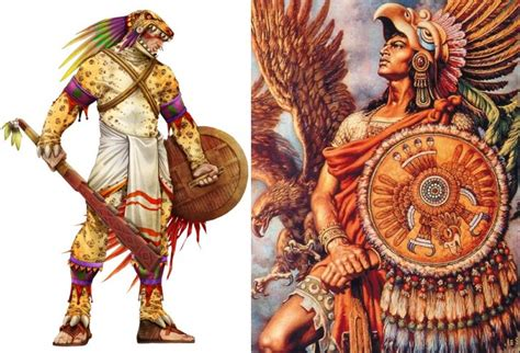 fearsome aztec eagle warriors  jaguar warriors