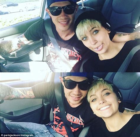paris jackson shows off tattoo with boyfriend michael