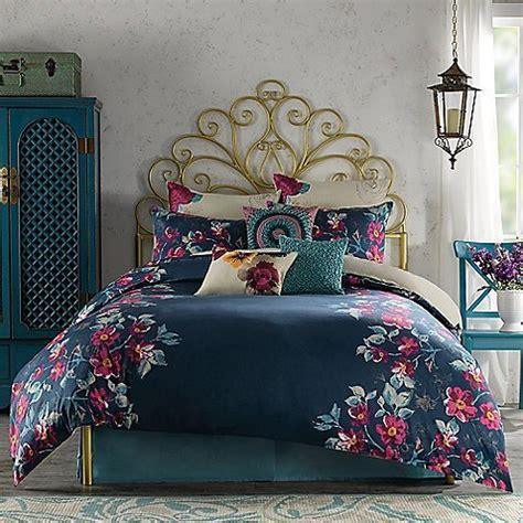 navy blue and pink bedding anthology penelope navy blue pink floral king duvet cover