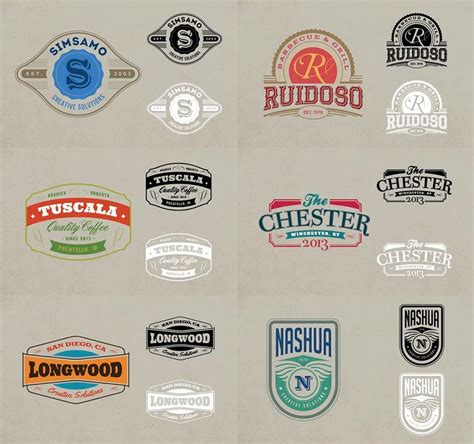 retro logo template psd vintage labels psd www pixshark images galleries