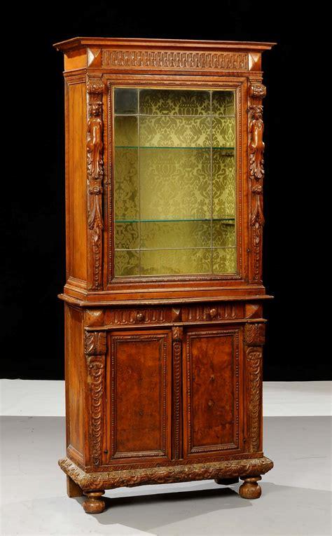 rinascimento mobili mobile vetrina in stile rinascimento xix secolo