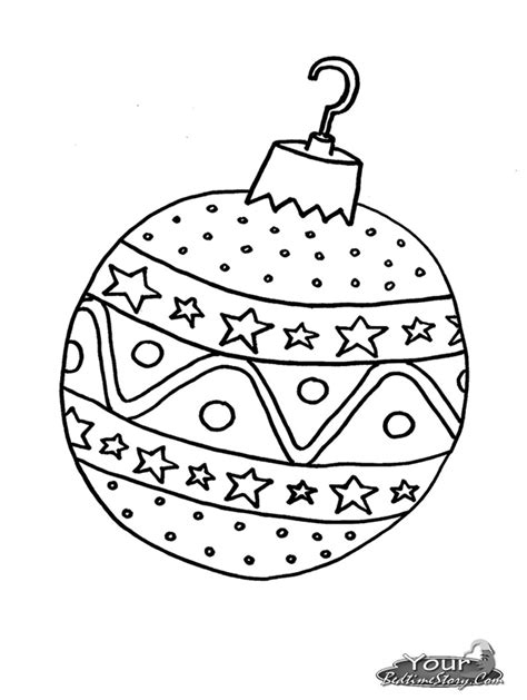 free coloring pages of christmas tree ball