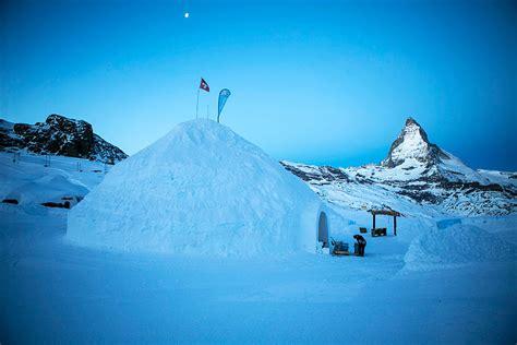 iglo haus grootste iglo ter wereld met uitzicht op matterhorn ecktiv