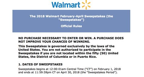 Walmart Survey Sweepstakes Rules - www survey walmart com take survey to win 1 000 or 100 gift card