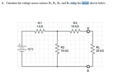 the voltage across resistor r1 is calculate the voltage across resistor r1 r2 r3 chegg