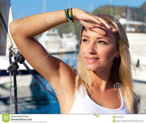 beautiful teen beautiful teen girl sailing stock image image 27985523