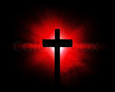 black and red christian cross cross on the red background stock photo colourbox