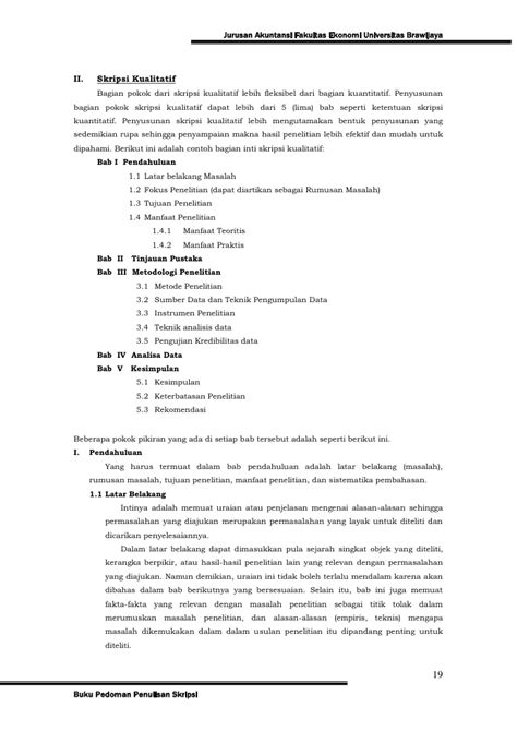 skripsi akuntansi data sekunder pedoman skripsi jur akuntansi