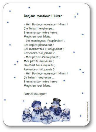 recitation sections po 233 sie bonjour monsieur l hiver de patrick bousquet