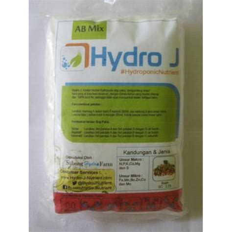 Jual Pupuk Tanaman Hidroponik jual pupuk nutrisi hidroponik ab mix buah hydro j 250gr