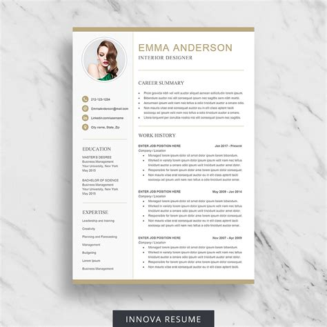 Resume Template Etsy by 10 Best Etsy Resume Templates Graphicadi