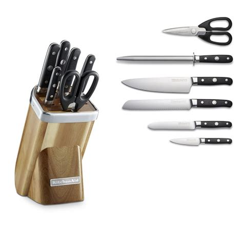 kitchen aid knives kitchenaid 174 professional 7 knife block set acacia