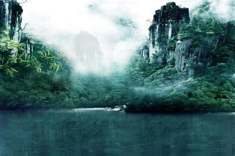 fantasy wonderland forest fog scenic background muslin