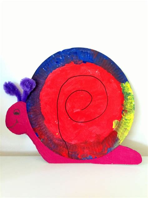 Snail Paper Plate Craft - crafts actvities and worksheets for preschool toddler and