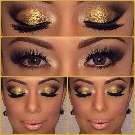 Eyeshadow Golden gold eye shadow pictures photos and images for