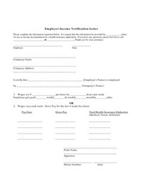 Proof Of Income Letter For Apartment Rental Free Printable Employment Verification Letter Employment Verification Form Printables