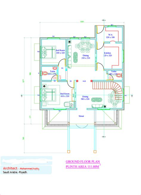 traditional home plan with 2880 square feet and 4 bedrooms from dream home source house plan 1936 square feet 4 bedroom kerala traditional home design