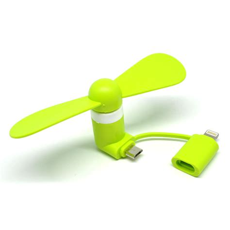 Kipas Usb kipas mini portable lightning micro usb green
