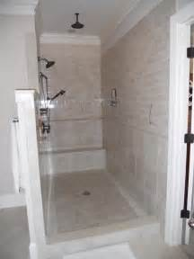 walk in tile shower without door walk in showers without doors photos