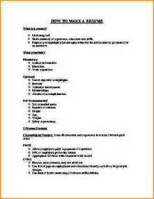 Make Resume by 6 How To Make A Resume For Application Bibliography Format