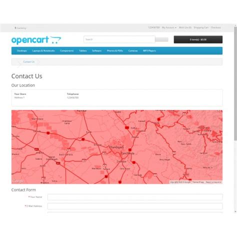 contact us page with map in extensions special map on contact us page