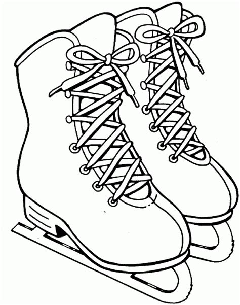skates free printable coloring pages