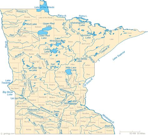 physical map of minnesota physical features my minnesota created by l