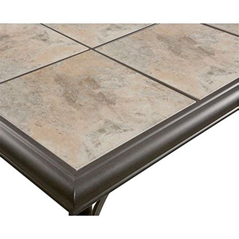 Ceramic Tile Patio Table Belleville Fts80721 Ceramic Tile Top Outdoor Patio Rectangular Coffee Table Uv Weather