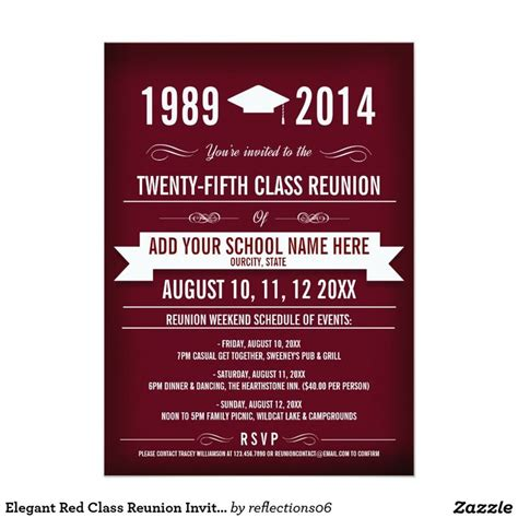 25 best ideas about class reunion invitations on