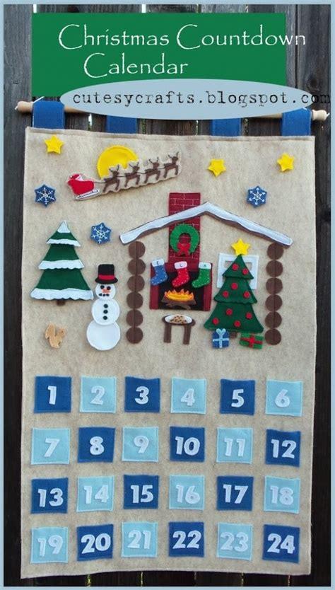 christmas countdown craft countdown calendar cutesy crafts