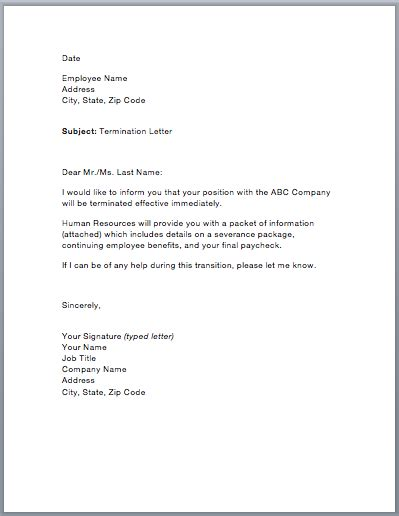 Termination Of Benefits Letter