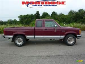 1992 ford ranger xlt extended cab 4x4 medium cabernet red metallic