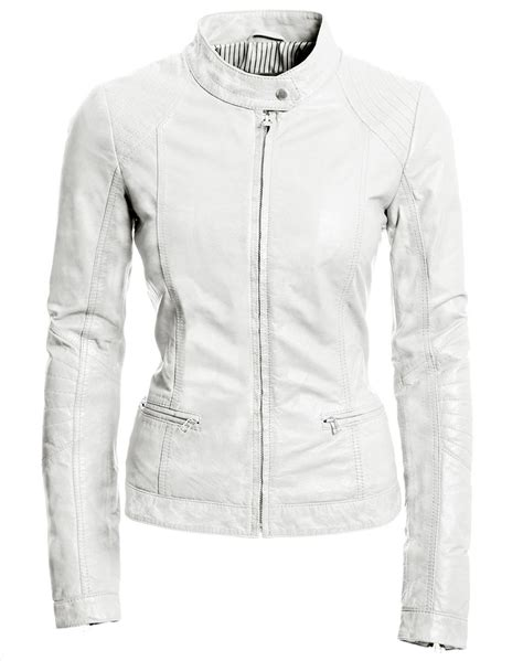 white motorbike jacket white leather jackets jackets